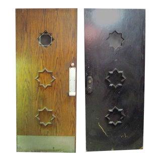 Oak Entry Doors - a Pair
