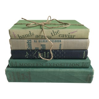 Collection of Vintage Green Books - Set of 5