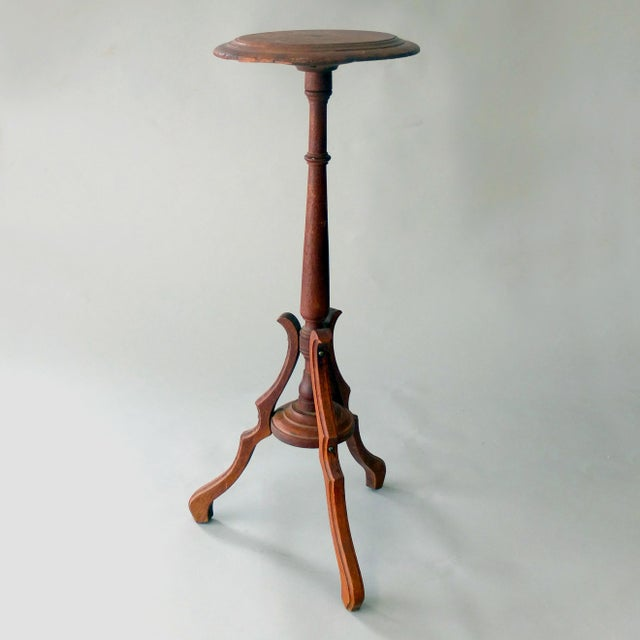 Vintage Sarreid Ltd Tri-Leg Oak Table Stand - Image 2 of 2