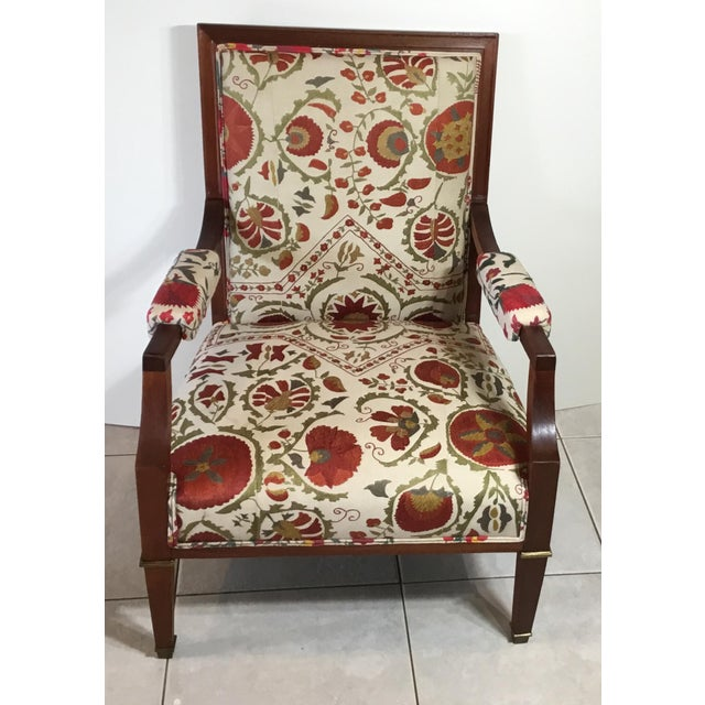 Contemporary 1960s Vintage French Suzani Armchair For Sale - Image 3 of 13