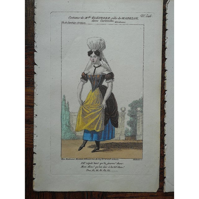 Four Antique French Theater/Costume Prints - Image 5 of 6