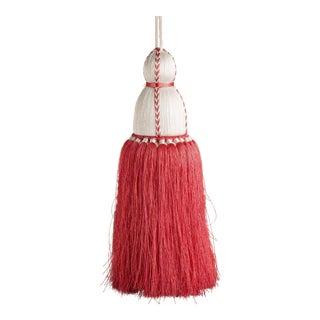 White & Coral Tassel, Large For Sale