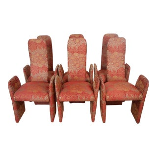 Post Modern Italian Style Dining Chairs- Set of 6 For Sale