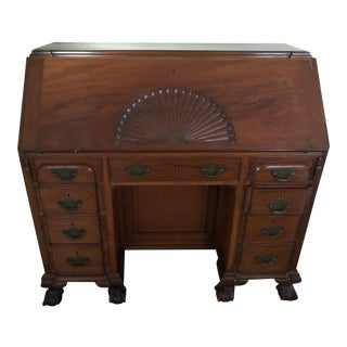 18th Century Chippendale Style Mahogany Secretary Desk For Sale