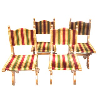 Antique Gothic Dining Chairs Circa 1900 - Set of 4