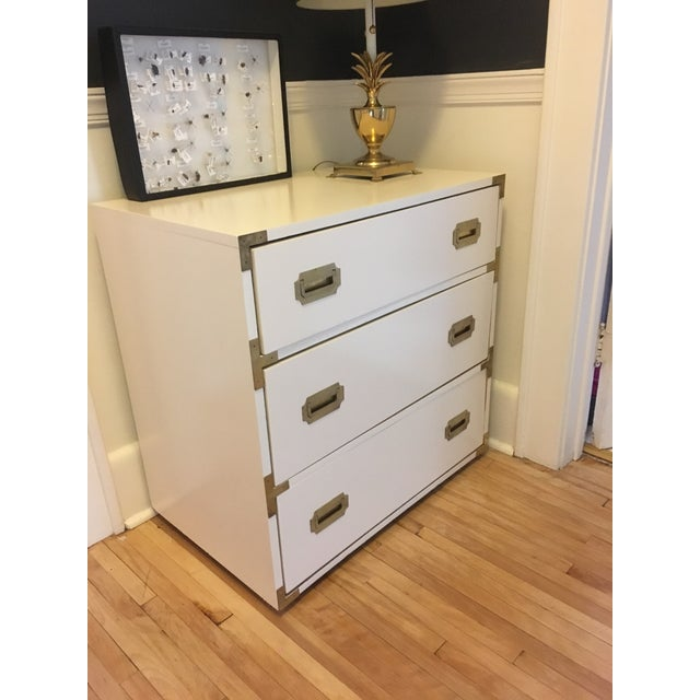 Campaign Campaign Schoolfield Industries Hickory White Chest of Drawers For Sale - Image 3 of 9