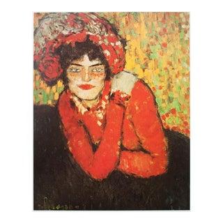 """1971 """"La Main Sur L'épaule"""" Picasso Photogravure"""