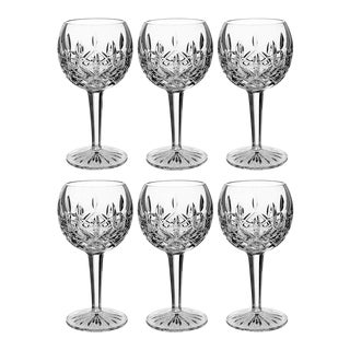 Waterford Crystal Lismore Balloon Wine Stem Glasses - Set of 6 For Sale