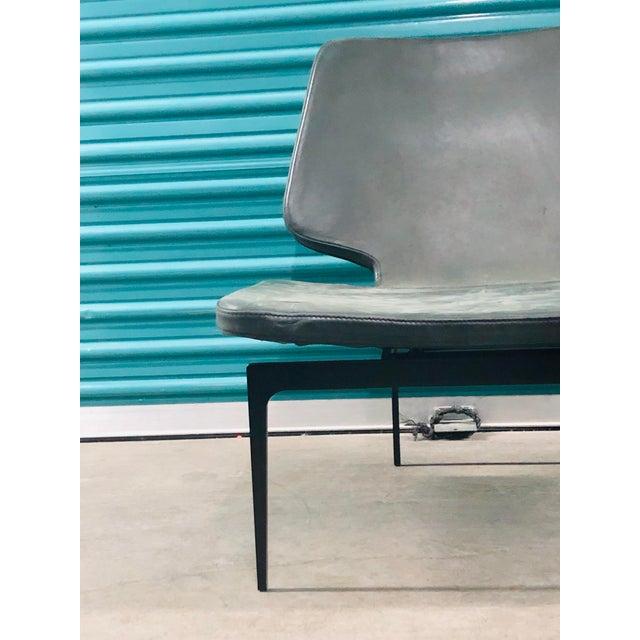 Italian Modern Roberto Lazzeroni of Lema Italian Leather Lounge Chair For Sale - Image 3 of 7
