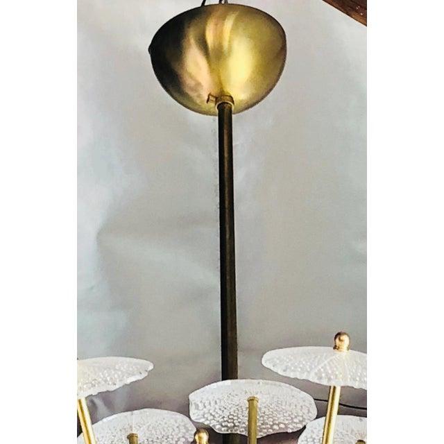 Gold Contemporary Reworked Large Parasole Sputnik Chandelier For Sale - Image 8 of 9