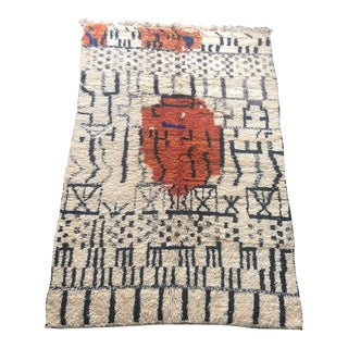 Vintage Hand Woven Rug For Sale