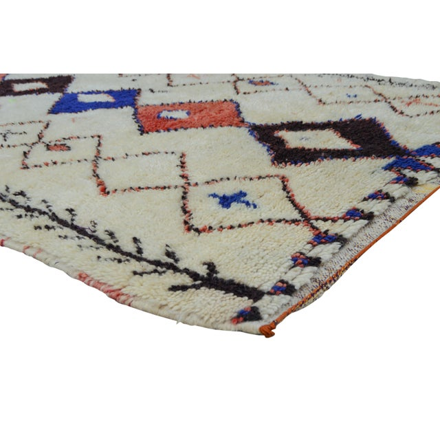Azilal rug hand-knotted of soft organic wool in the High Atlas Mountains of Morocco.