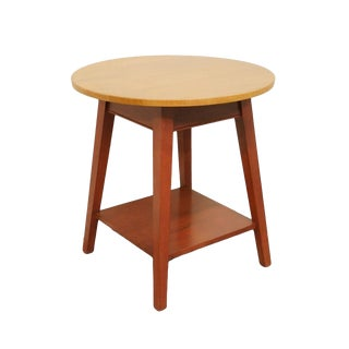 Late 20th Century Vintage Ethan Allen Country Colors Collection Side Table For Sale
