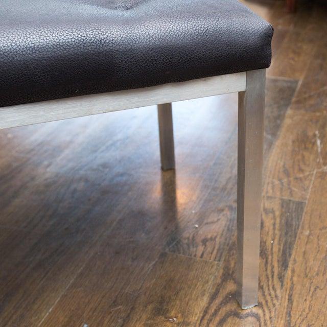 j.g. Furniture Brushed Aluminum Bench - Image 3 of 7