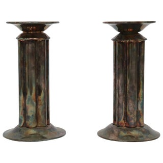 Pair of Richard Meier Candlestick Holders For Sale