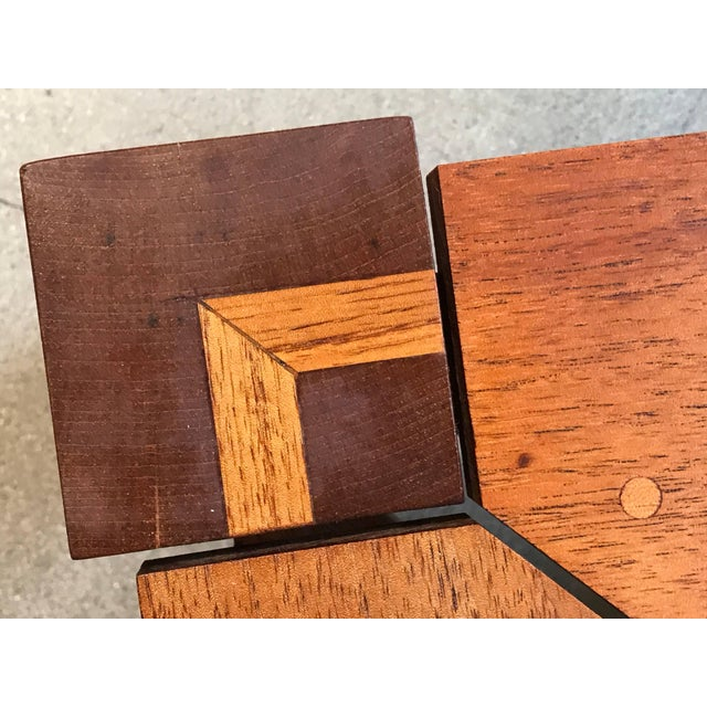 Rob Edley Welborn Prototype Square Coffee Table in Spanish Cedar For Sale - Image 9 of 11
