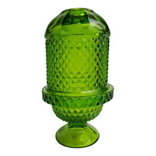 Vintage Green Glass Fairy Light For Sale