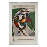 Image of Jacob Lawrence Hand Signed Olympische Spiele München 1972 (Olympic Games Munich) Poster For Sale
