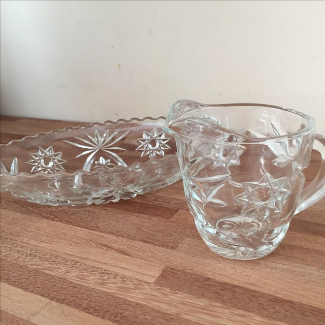 Star of David Creamer and Serving Bowl Set - Image 3 of 3