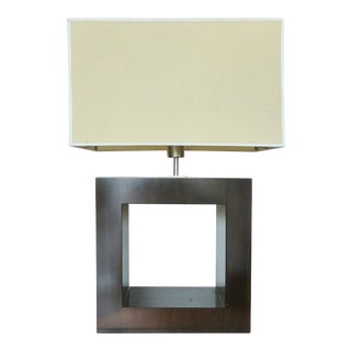 Ebonized Wood Table Lamp For Sale