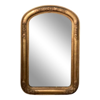 Petite Louis Philippe Gilt Wall Mirror For Sale