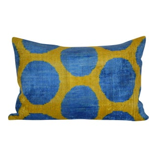 Lya Silk Velvet Ikat Pillow
