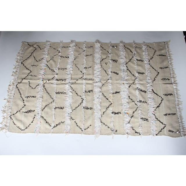 Vintage Moroccan Wedding Handira Blanket - Image 4 of 5
