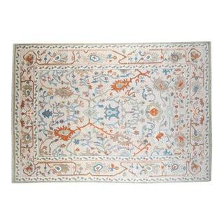 "Traditional Handmade Oushak Rug - 10' x 14'2"""