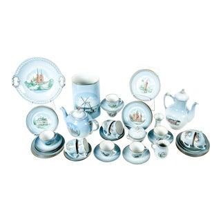 Danish Porcelain Tea & Coffee Set - Set of 43 For Sale
