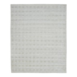 Baker, Contemporary Modern Hand Loom Area Rug, Nt.Ivory, 9 X 12 For Sale