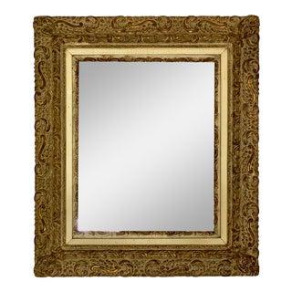 Antique Ornate Gold Framed Mirror For Sale