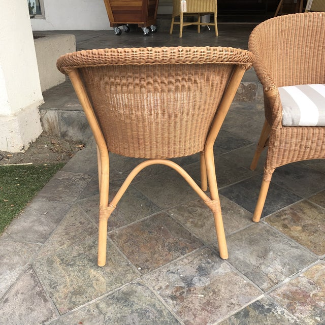 Contemporary Palecek Rattan Bistro Chairs - Set of 3 For Sale - Image 3 of 9