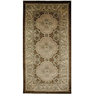 """Oushak Hand-Knotted Rug - 5'4"""" x 10'4"""" For Sale"""
