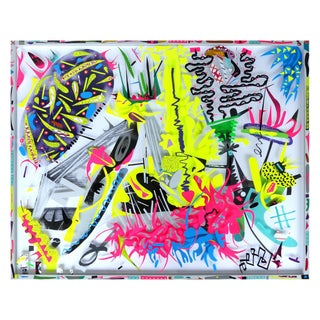 Mixed-Media Collage by Contemporary South Florida Artist Gustavo Oviedo For Sale