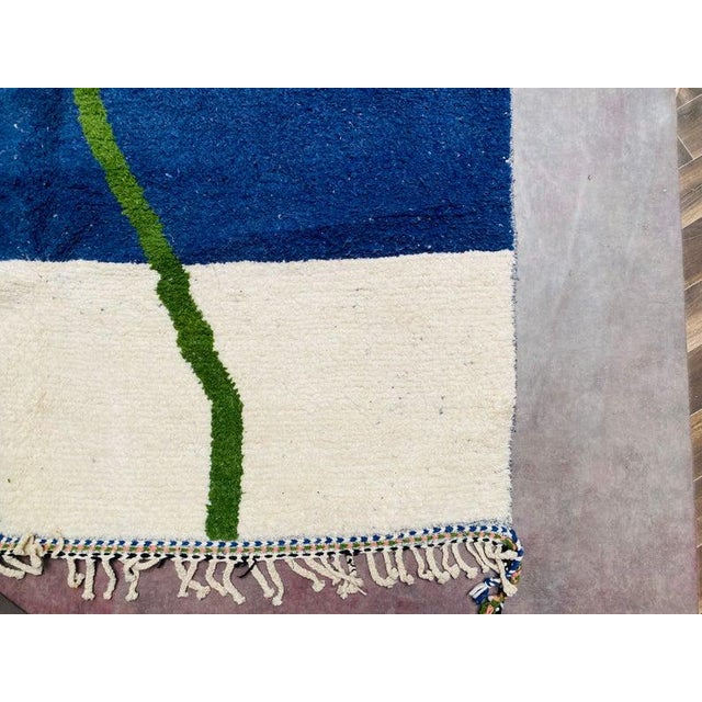1980s Moroccan Beni Ourain Rug-7′3″ × 10′6″ For Sale - Image 6 of 9