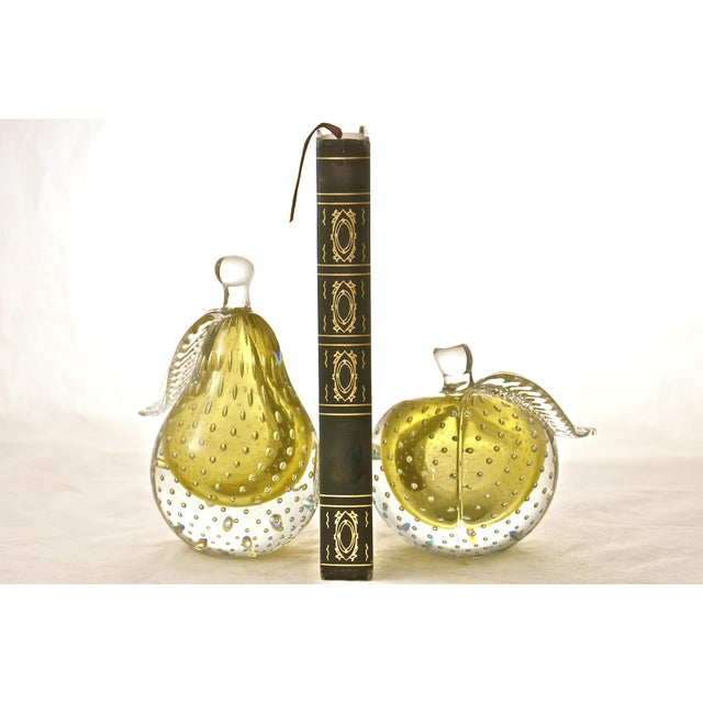 Gold Murano Apple & Pear Bookends - A Pair - Image 3 of 7