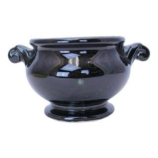 Vintage McCoy Black Ceramic Pot For Sale