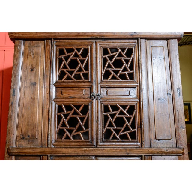 Chinese Elm Wood Cabinet For Sale In West Palm - Image 6 of 7