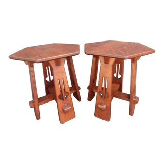 20th Century Arts & Crafts Taberettes - a Pair For Sale