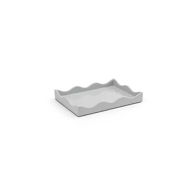 Contemporary Small Belles Rives Tray in Pale Grey - Rita Konig for The Lacquer Company For Sale - Image 3 of 3