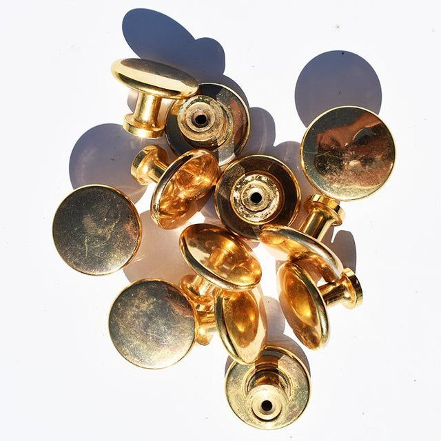 Priced individually. Large gold pulls or cabinet knobs. These round knobs are a great way to accent any bathroom or...