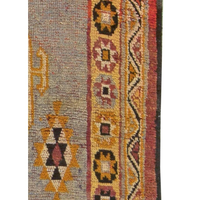Mid 20th Century Vintage Moroccan Rug For Sale - Image 5 of 6