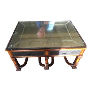 Traditional Theodore Alexander Armoured Collection Coffee or Cocktail Table For Sale