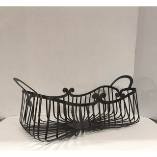French Country Black Metal Basket Preview