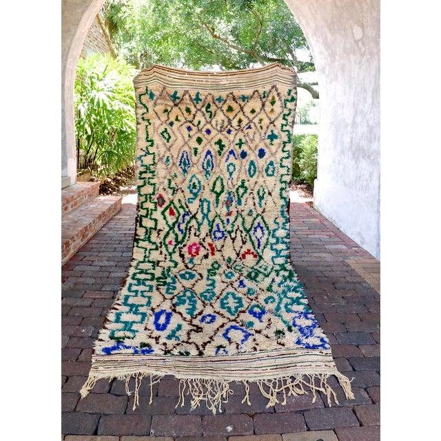 Blue Atlas Vintage Moroccan Rug - 4′8″ × 10′ - Image 2 of 6