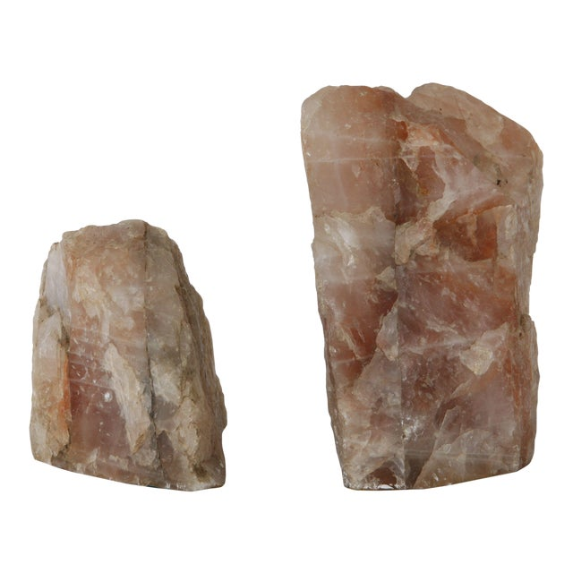 Rose Quartz Bookends - Pair - Image 1 of 4