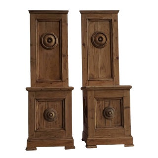 Early 19th Century Walnut Wood Cathedral Chairs - a Pair For Sale