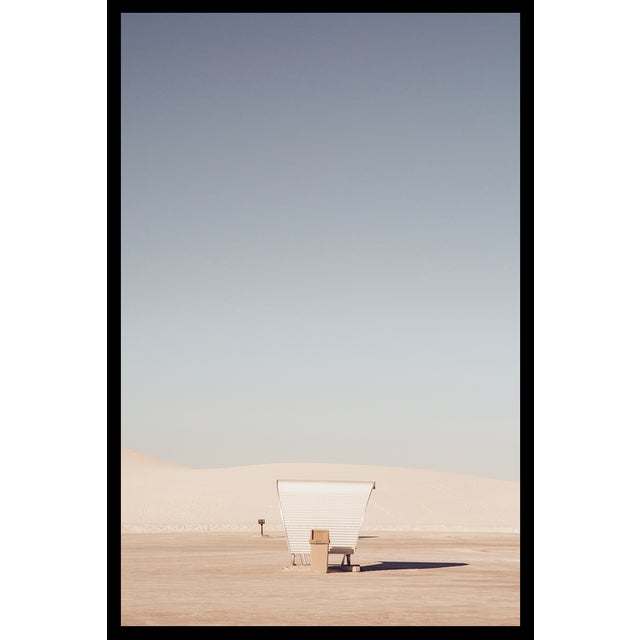 Original photograph of the unique picnic benches inside White Sands National Monument in New Mexico. Lightjet Type C Print...