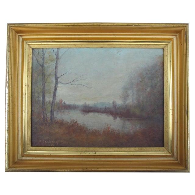 Vintage Impressionist Oil Painting 1936 - Image 1 of 6