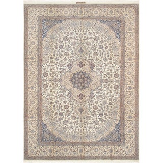 "Pasargad Home Nain Silk & Wool Rug -8' 6"" X 12' 0"" For Sale"
